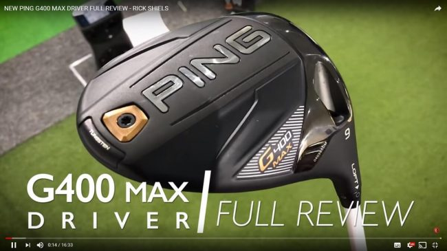 PING G400 MAX Driver test video